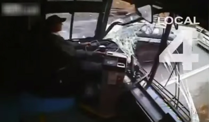 Video shows every angle of transit bus crash after driver dozes