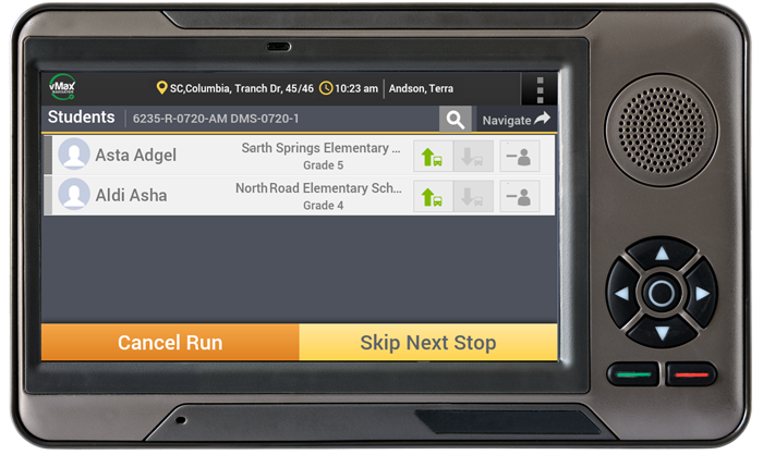 School Bus Driver Data Tablet | Seon